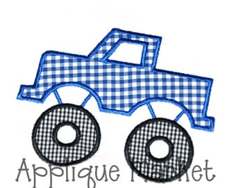 Machine Embroidery Design Applique Monster Truck INSTANT DOWNLOAD