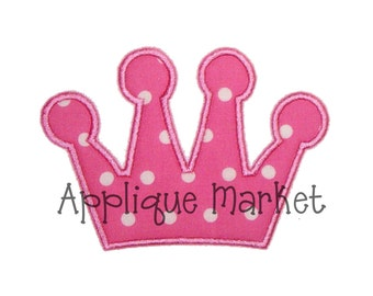 Machine Embroidery Design Applique Simple CrownN INSTANT DOWNLOAD
