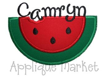 Machine Embroidery Design Applique Watermelon INSTANT DOWNLOAD