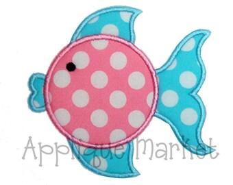 Machine Embroidery Design Applique Blowfish INSTANT DOWNLOAD