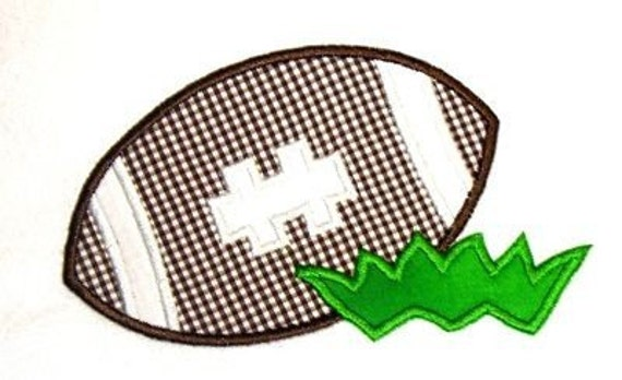 Machine Embroidery Design Applique Football with Grass INSTANT DOWNLOAD