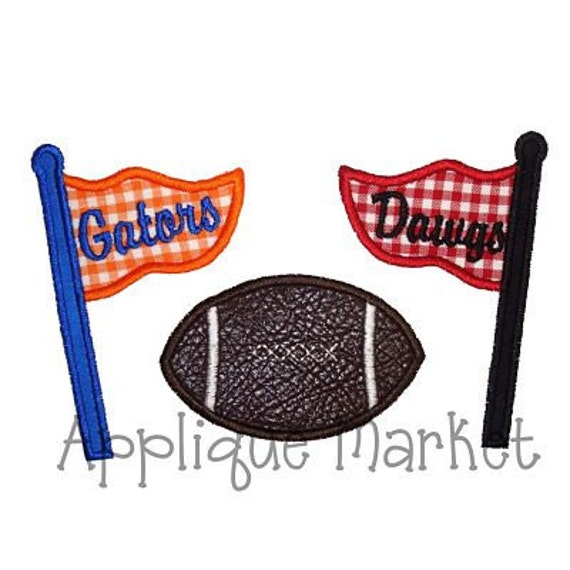 Machine Embroidery Design Applique House Divided Pennants