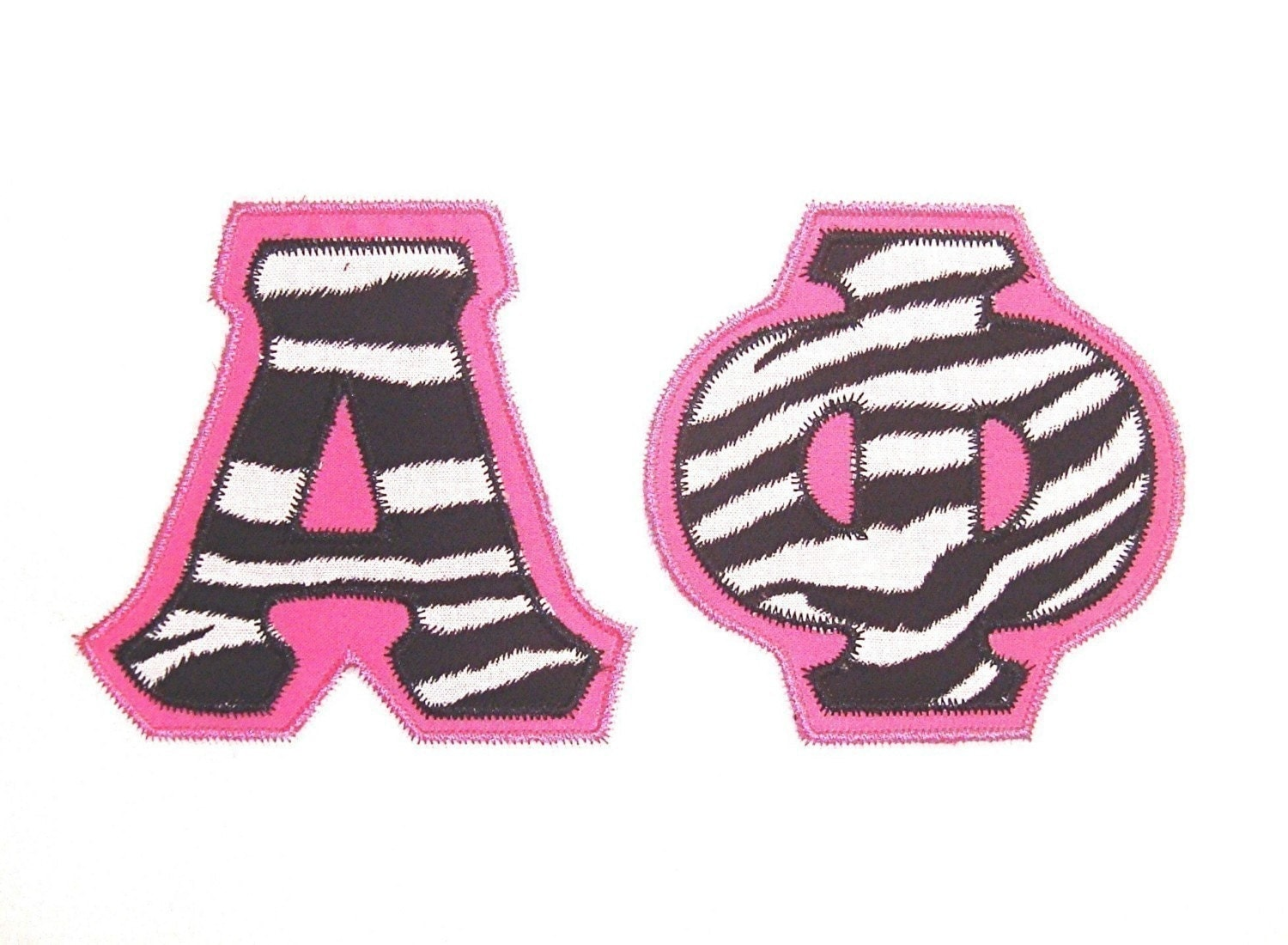 Greek double applique machine embroidery alphabet and