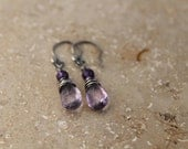Purple Drop - Amethyst Earrings - Amazing Alps Collection