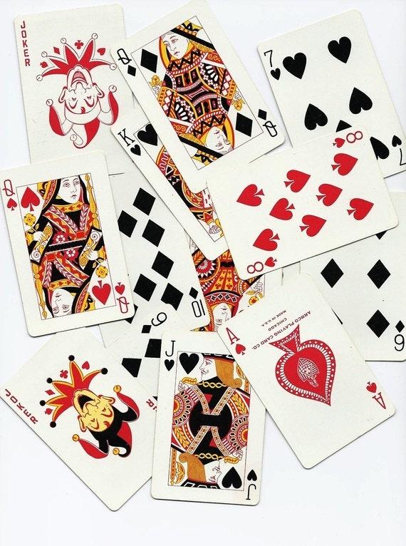 SALE   Vintage Playing Cards, Enardoe, ARRCO Playing Card Company, 1950s, Bridge Size, 2 Jokers, Free Shipping, Paper Ephemera, Game