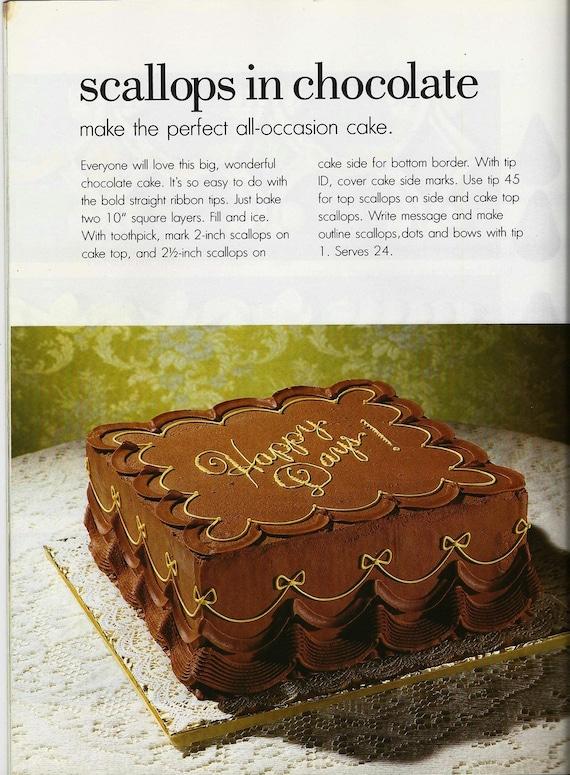 Vintage Wilton Cake Decorating Tips Book Wedding Cake