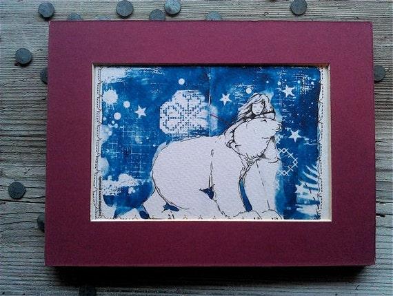 Girl and Polar Bear Limited Edition Print