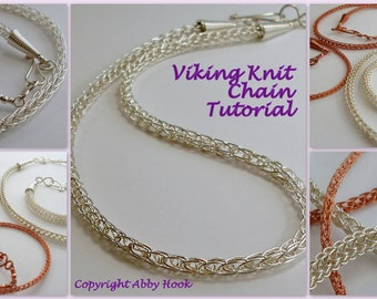 Viking knit Chain, Wire Jewelry Tutorial, PDF File instant download