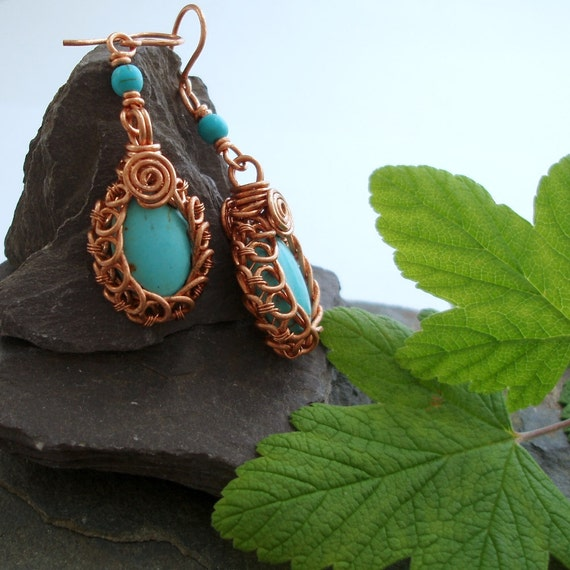 Circles Turquoise earrings