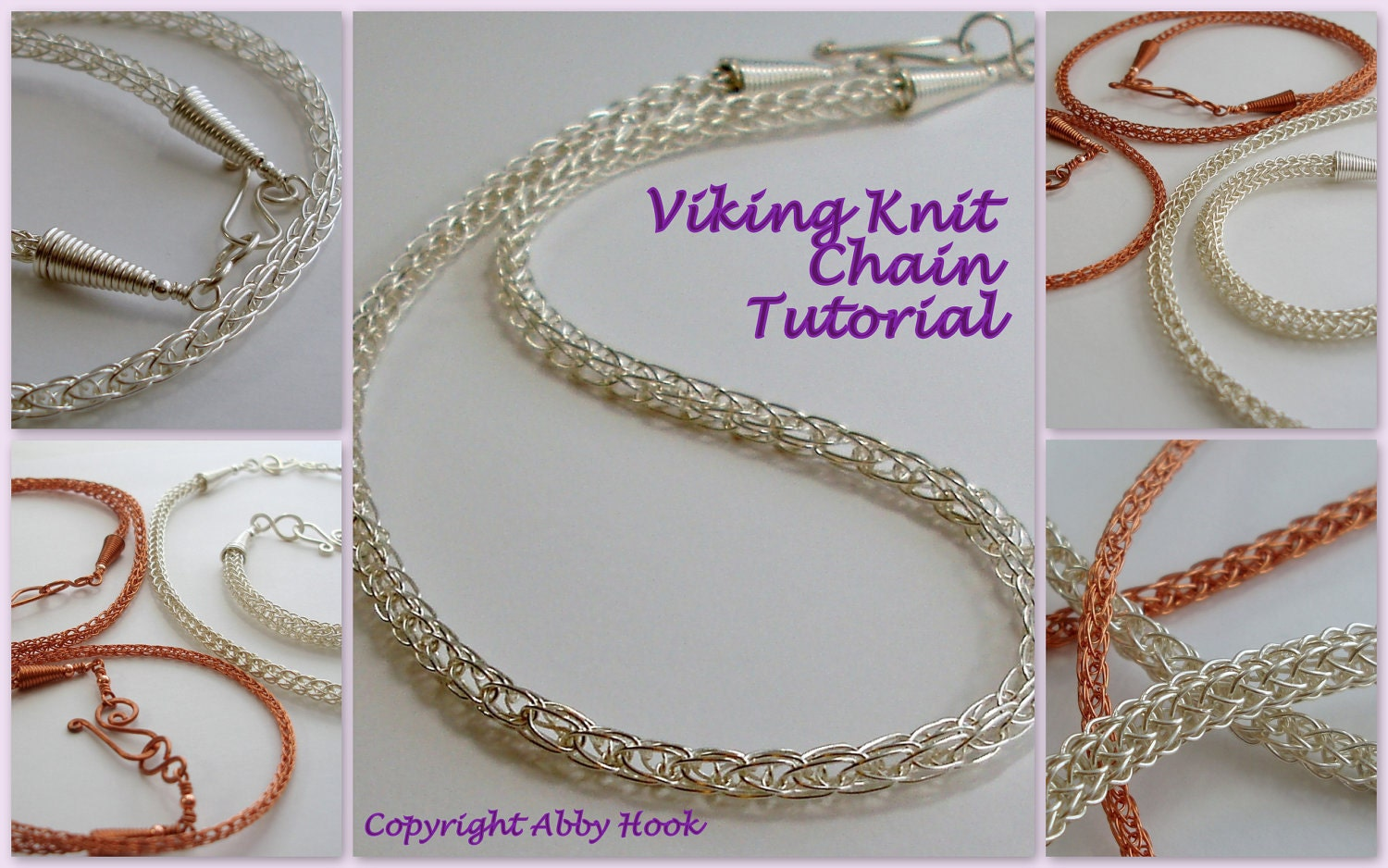 Viking Knitting Tutorial Pdf : Viking knit chain wire jewelry tutorial pdf file by
