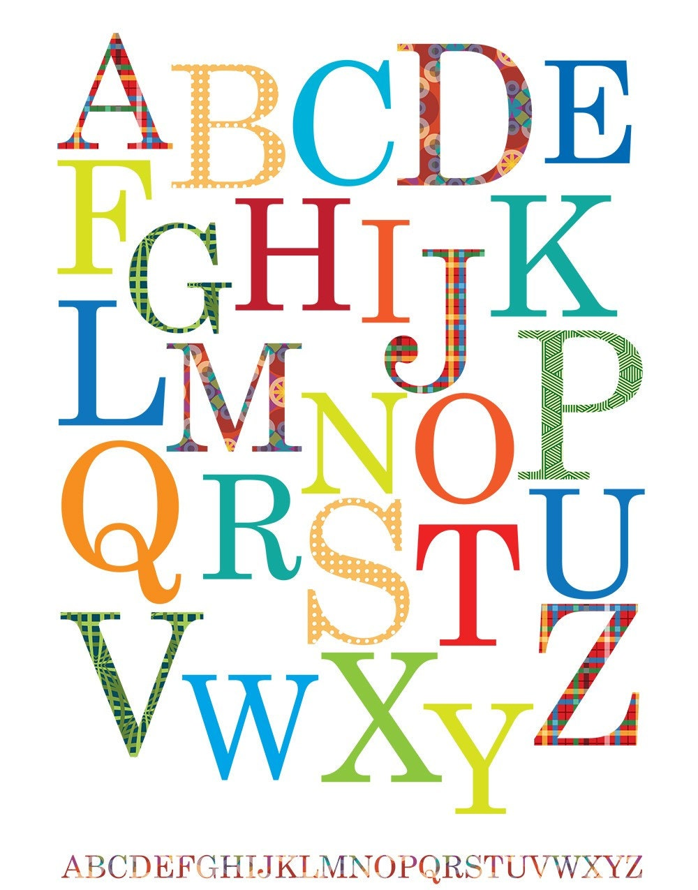 ABC Alphabet Poster