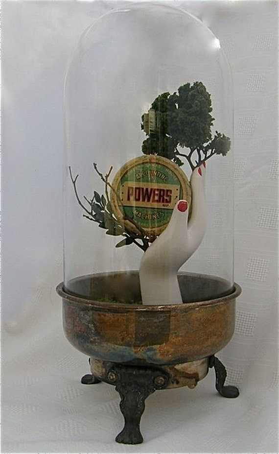 RESERVED for rheitman Original sculpture found object assemblage POWERs