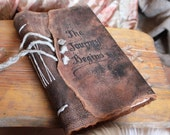 Leather travel journal Medieval wedding guestbook bridal shower engagement anniversary