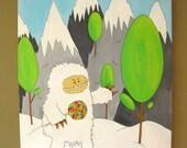 SALE Yeti Pop - Acrylic Painting