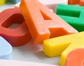 vintage plastic letters and numbers