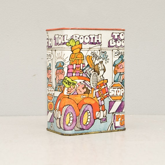 Vintage 1970s Groovy Metal Coin Bank by Hallmark