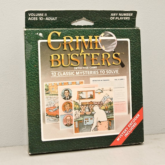 Vintage Crime Busters Mystery Detective Game - 1980s Volume 2