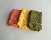 Dishcloths knit in cotton - Creeper, Jasmine, Apricot/Peach Blossom