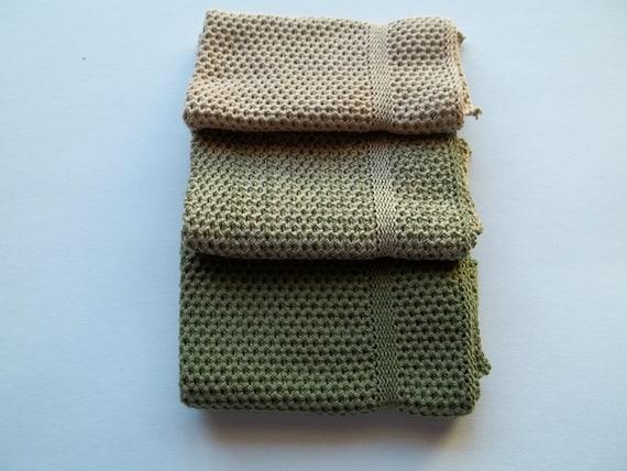 Dishcloths knit in cotton - Creeper, Pecan