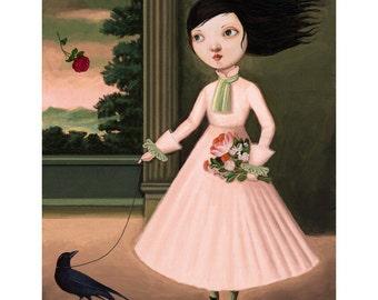 Gifts for tween girls,Rose-print, Girl's art, childrens art, print