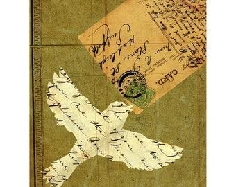 Avian Post art print, Gifts for writers, wall art, Par Avian-print