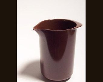 Vintage Rosti Denmark Brown Melamine 1 Liter Mixing Pitcher