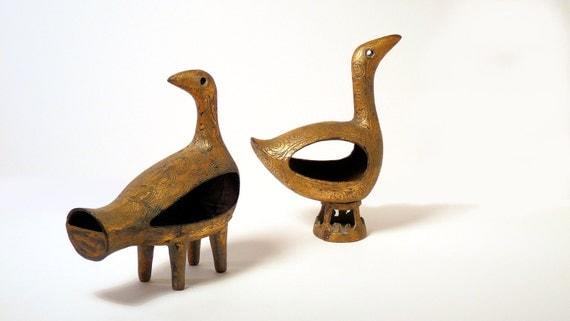 Mid-Century Pair of Danish Modern Bronze Birds