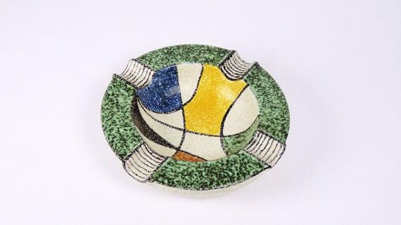 Mid-Century Milano Series Ashtray by Ruscha Pottery 1950's