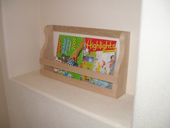 Book Rack Holder Shelf Wall Mount 23 Inches Long By