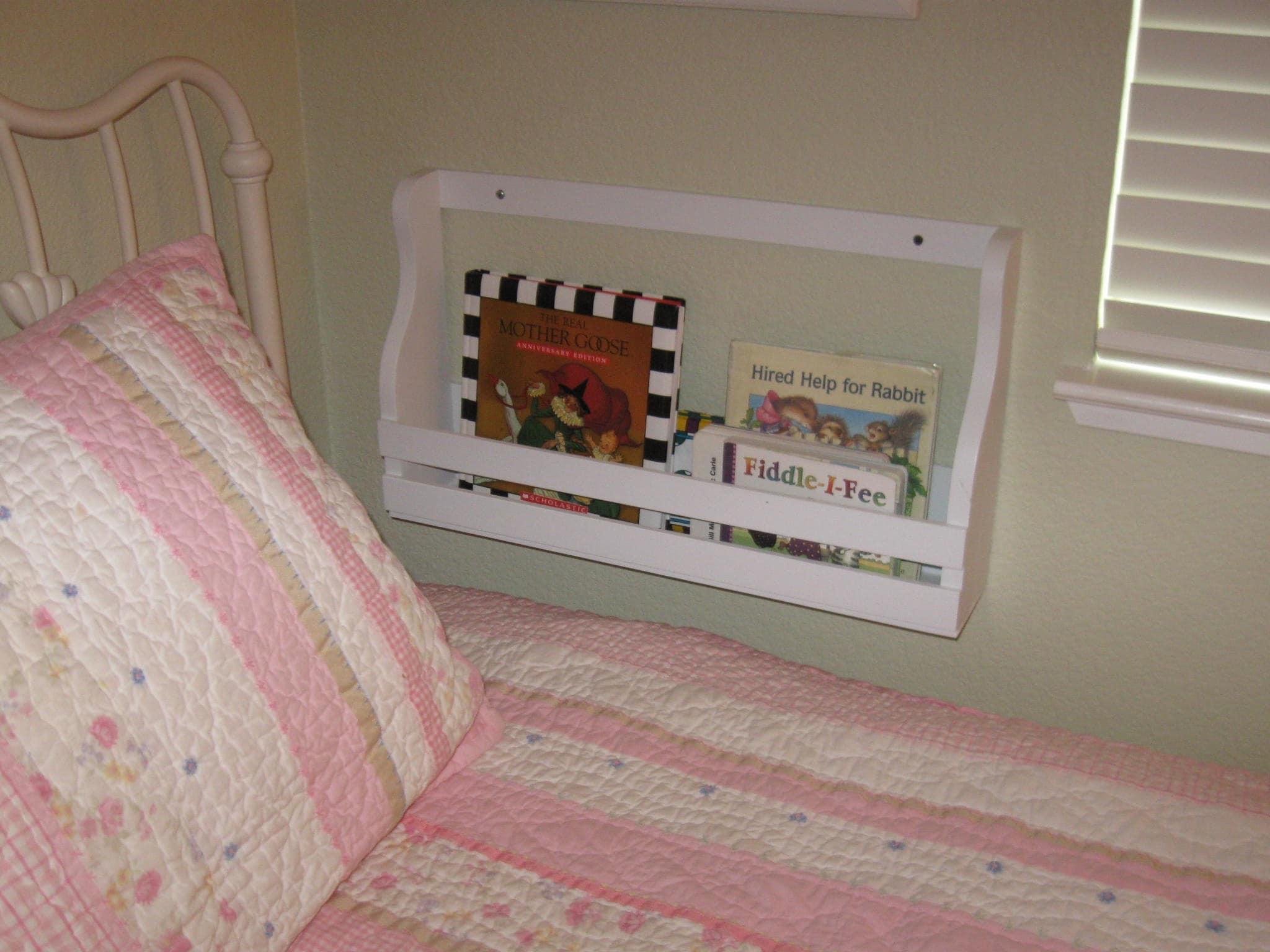 Book Rack Holder Shelf Wall Mount 20 Inch Long Pg Pine For