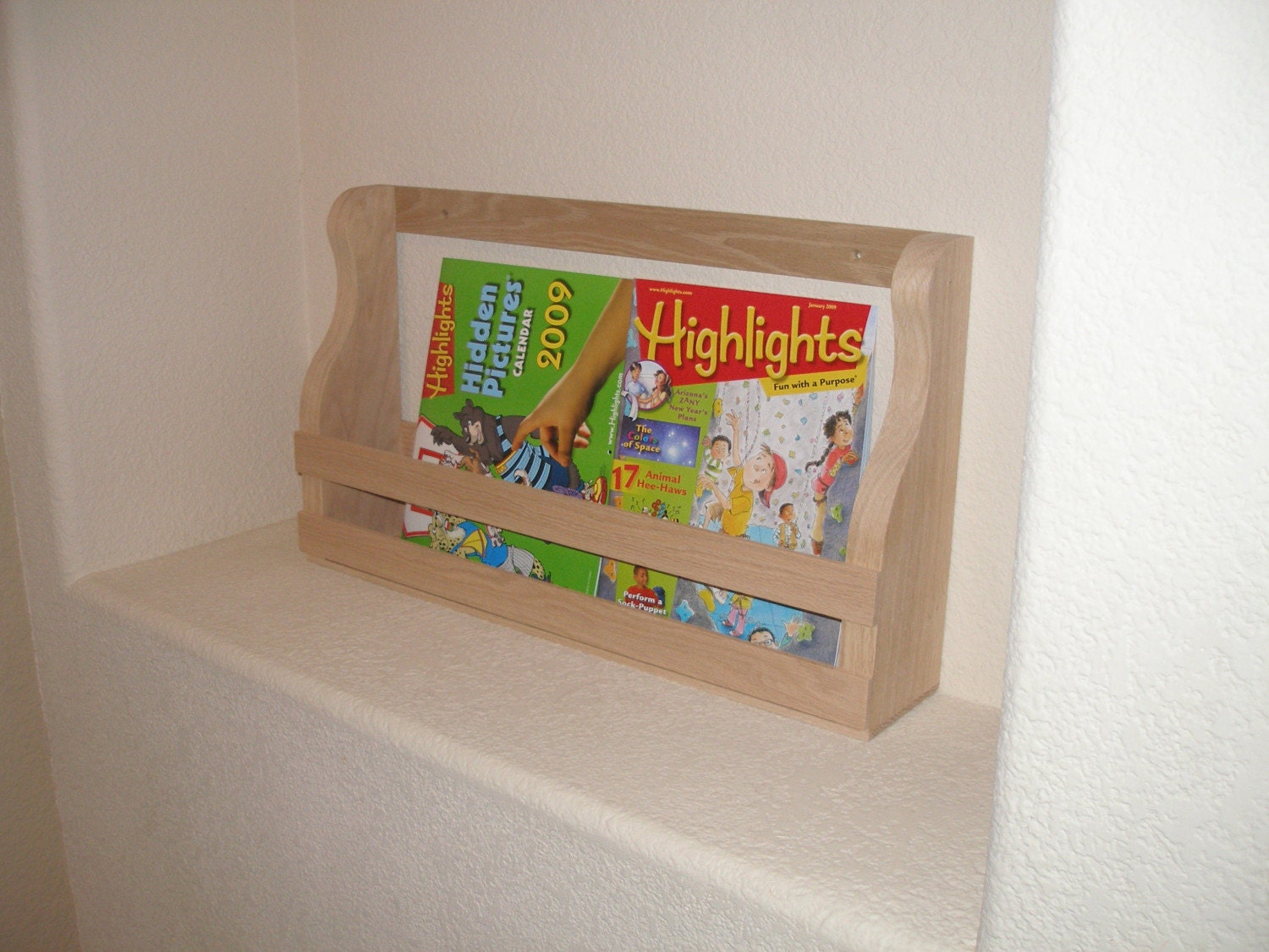 Book Rack Holder Shelf Wall Mount 23 Inches Long For Kids