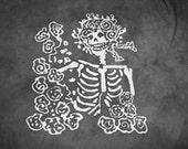 The Grateful Dead Skulls and Roses Bertha Batik Tee Shirt CUSTOM MADE