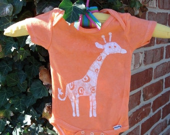 Giraffe Baby Onesie Batik Zoo Animals CUSTOM MADE