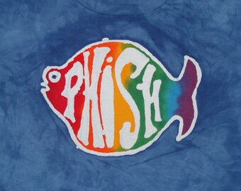 PHISH MuSiC bATiK TeE sHiRt  hIPpiE cLoTHiNG tOp PeAcE LoVe jAm bANd CUSTOM MADE