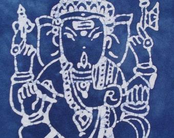 Ganesha Tee Shirt Batik Elephant Diety CUSTOM MADE to YOUR liking