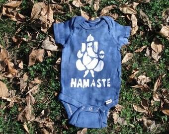 Namaste Ganesh Yoga Baby Batik Onesie Tee Shirt CUSTOM