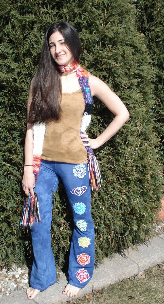 Yoga Pants Chakra Mandala Rainbow Flow Wear CUSTOM