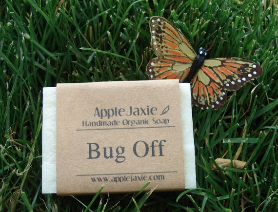 Organic Soap Vegan Bug Off Natural Insect Repellent Handmade Cold Process Soap Recycled Packaging