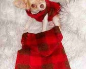 LUMBERJACK Snuggly Vest Dog Clothes XXXS to MED