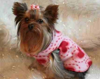 Valentine Heart Dog Snuggly Vest Coat  Size SM