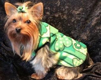 St Patricks Day Irish Dog Clothes - Snuggly Vest XXXS to SM