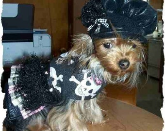 XS Gothic Toy Dog Dress