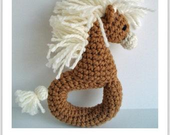 Crochet Zebra/Pony Rattle Pattern PDF