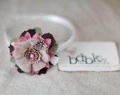 Bella Donna headband - children, teen, adult pink floral fun - headband