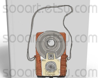 Vintage camera-Digital Image Sheet -SooArt Original Illustrate Drawing  A4 Print on Pillows, t-shirts, scrapbook, lampshades  ETC.v
