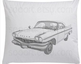 car  vintage  Dodge -Digital Image Sheet -Original Illustrate Drawing  A4 Print transfer on Pillows, t-shirts, scrapbook, lampshades  ETC.v