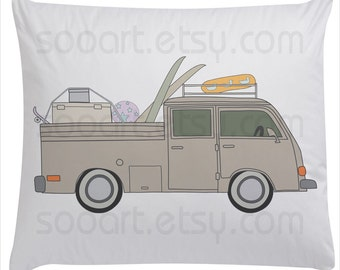 Volkswagen vintage  -Digital Image Sheet -Original Illustrate Drawing  A4 Print transfer on Pillows, t-shirts, scrapbook, lampshades  ETC.v