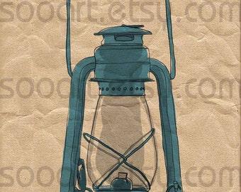 Oil lamps OLD -Digital Image Sheet -Original Illustrate Drawing  A4 Print transfer Pillows, t-shirts, scrapbook, lampshades  ETC.