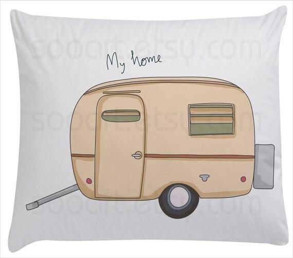 Trailer vintage-Digital Image Sheet -SooArt Original Illustrate Drawing  A4 Print on Pillows, t-shirts, scrapbook, lampshades  ETC.
