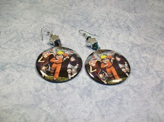 Naruto - Team 7 - Button Earrings